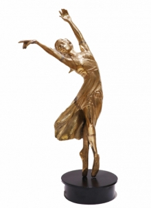 Brass Sculpture titled 'Dancing Girl 1' by artist Ram Kumbhar