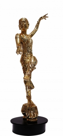 Bronze Sculpture titled 'Kathak Dance' by artist Ram Kumbhar