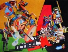 art, drawing, color pencil, paper, contemporary