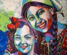 art, painting, acrylic, canvas, potrait