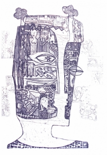 Priya Bambal | Soul And Soulmate Printmaking by artist Priya Bambal | Printmaking Art | ArtZolo.com