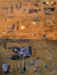Abstract Acrylic Art Painting title 'City Life 2' by artist Prabinkumar Nath