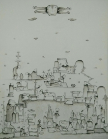 contemporary Acrylic Art Painting title Sunshine by artist Taslim Jamal