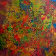 Abstract Acrylic Art Painting title Poem Of Colour 1 by artist Aditi Chakravarty