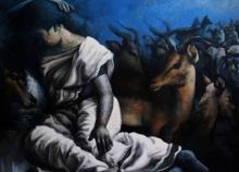 Figurative Acrylic Art Painting title Untitled 12 by artist Arya Chowdhury
