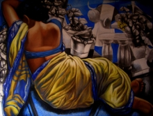 Figurative Acrylic-oil Art Painting title Untitled 8 by artist Arya Chowdhury