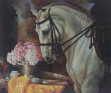 Animals Oil Art Painting title The Aesthetic Of Energy 1 by artist Ashis Mondal