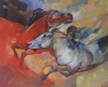 Animals Oil Art Painting title The Aesthetic Of Energy 3 by artist Ashis Mondal