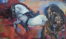 Animals Oil Art Painting title The Aesthetic Of Energy 4 by artist Ashis Mondal