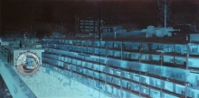 Cityscape Oil Art Painting title Oneirism by artist Bhartti Verma