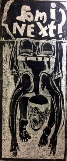 art, printmaking, woodcut, plywood, contemporary