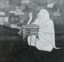 Milind Atkale | Ek Dhaga Printmaking by artist Milind Atkale | Printmaking Art | ArtZolo.com