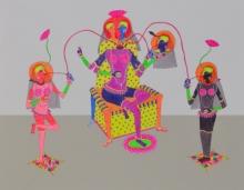 Figurative Mixed-media Art Painting title True Friendship by artist Priti Singh