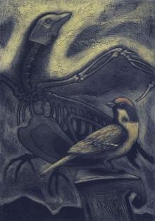 Atin Basak   Fossil 2 Printmaking by artist Atin Basak   Printmaking Art   ArtZolo.com