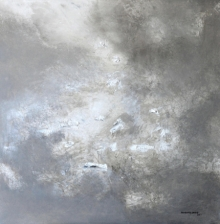 Abstract Acrylic Art Painting title 'Abstract Highs In White Scale 2' by artist Balasaheb Abhang