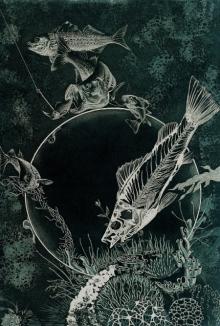 Jyotirmay Dalapati | Aqua Life Printmaking by artist Jyotirmay Dalapati | Printmaking Art | ArtZolo.com