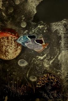 Jyotirmay Dalapati | Aqua Life 2 Printmaking by artist Jyotirmay Dalapati | Printmaking Art | ArtZolo.com