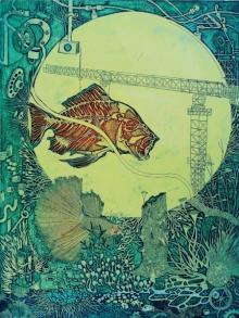 Jyotirmay Dalapati | Industrialization Printmaking by artist Jyotirmay Dalapati | Printmaking Art | ArtZolo.com