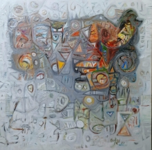 Abstract Acrylic Art Painting title Untitled 11 by artist Rajesh Kumar Singh