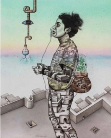 contemporary Acrylic-charcoal Art Painting title 'One Roof Of One World 2' by artist Satya Vijay Singh