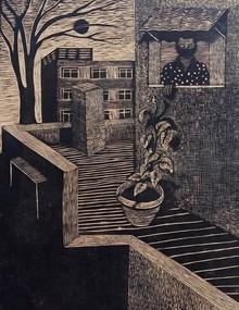 Neeraj Khandka | Life In A Lockdown Printmaking by artist Neeraj Khandka | Printmaking Art | ArtZolo.com