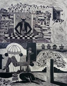 Neeraj Khandka | Life In Concrete Printmaking by artist Neeraj Khandka | Printmaking Art | ArtZolo.com