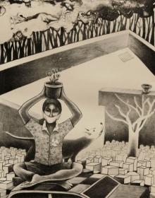 Neeraj Khandka | Preserved Printmaking by artist Neeraj Khandka | Printmaking Art | ArtZolo.com