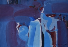 Abstract Acrylic Art Painting title Untitled 15 by artist Satendra Mhatre