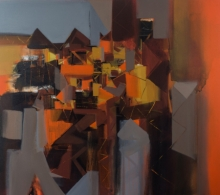 Abstract Acrylic Art Painting title Untitled 3 by artist Satendra Mhatre