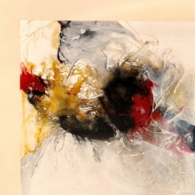 Abstract Mixed-media Art Painting title 'Untitled 3' by artist Sonam Sikarwar
