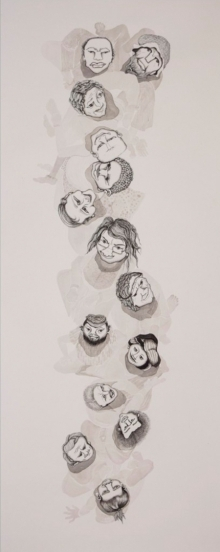 contemporary Mixed-media Art Drawing title 'Untitled 13' by artist Hema Mhatre