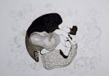 contemporary Mixed-media Art Drawing title 'Untitled 5' by artist Hema Mhatre