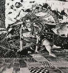 Anupama Dey | Clutter Of Fear Printmaking by artist Anupama Dey | Printmaking Art | ArtZolo.com