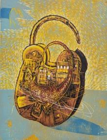 Anupama Dey | Lock To Unlock Printmaking by artist Anupama Dey | Printmaking Art | ArtZolo.com