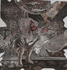 Anupama Dey | Pilgrimage Printmaking by artist Anupama Dey | Printmaking Art | ArtZolo.com