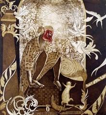 Anupama Dey | Scare Printmaking by artist Anupama Dey | Printmaking Art | ArtZolo.com