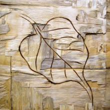 Leafy Wood I | Painting by artist Somen Debnath | other | wood