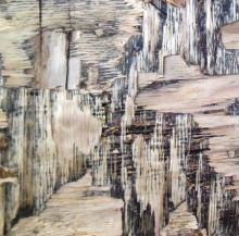 Abstract Mixed-media Art Painting title Wood Texture II by artist Somen Debnath