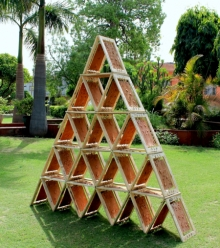 Mixedmedia Sculpture titled 'Daily Life' by artist Sabbavarapu V S Rao