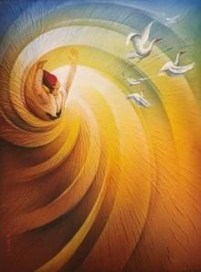 Figurative Mixed-media Art Painting title Freedom by artist Radhika Seksaria