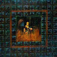 Figurative Mixed-media Art Painting title 'Mulaqat' by artist Radhika Seksaria
