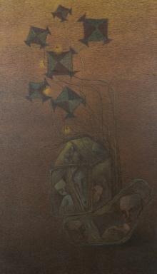 contemporary Acrylic Art Painting title Burning Desire 3 by artist Vaishnavi Naik