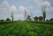 Nature Oil Art Painting title 'Blossom' by artist Parimal Vaghela