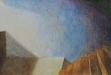art, painting, acrylic, paper, landscape