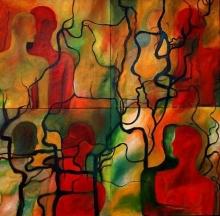 Nude Acrylic Art Painting title Untitled 6 by artist Sunayana Malhotra