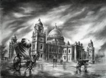 Victoria | Drawing by artist Ananda Das | | charcoal | Paper