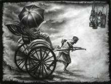 Light | Drawing by artist Ananda Das | | charcoal | Paper