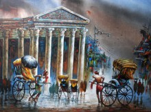 Ananda Das | Acrylic Painting title Kolkata II on Canvas
