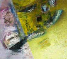 Abstract Acrylic Art Painting title 'Abstract' by artist Arun K Mishra