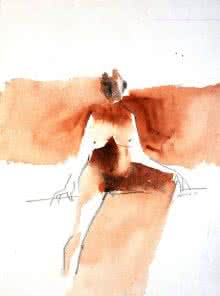 Kamasutra 1 | Painting by artist Arun K Mishra | watercolor | Paper